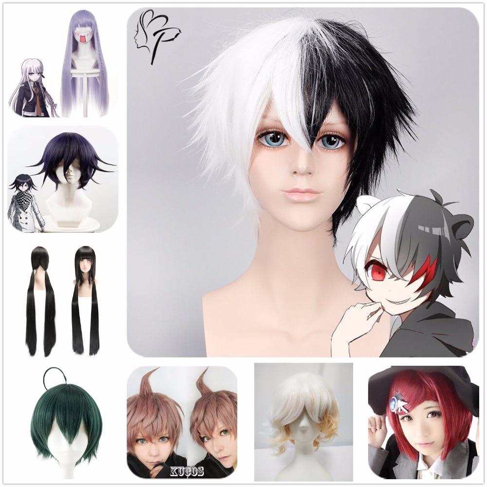 Danganronpa Shuuichi/Harukawa Maki/Himiko/Nagito/Ouma Kokichi/Makoto/Kyouko/Monokuma Adult Cosplay Hairpiece Periwig   Headwear