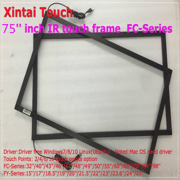 Fast shipping 75 inch Real 10 touch points Infrared touch frame,Infrared touch panel without glass