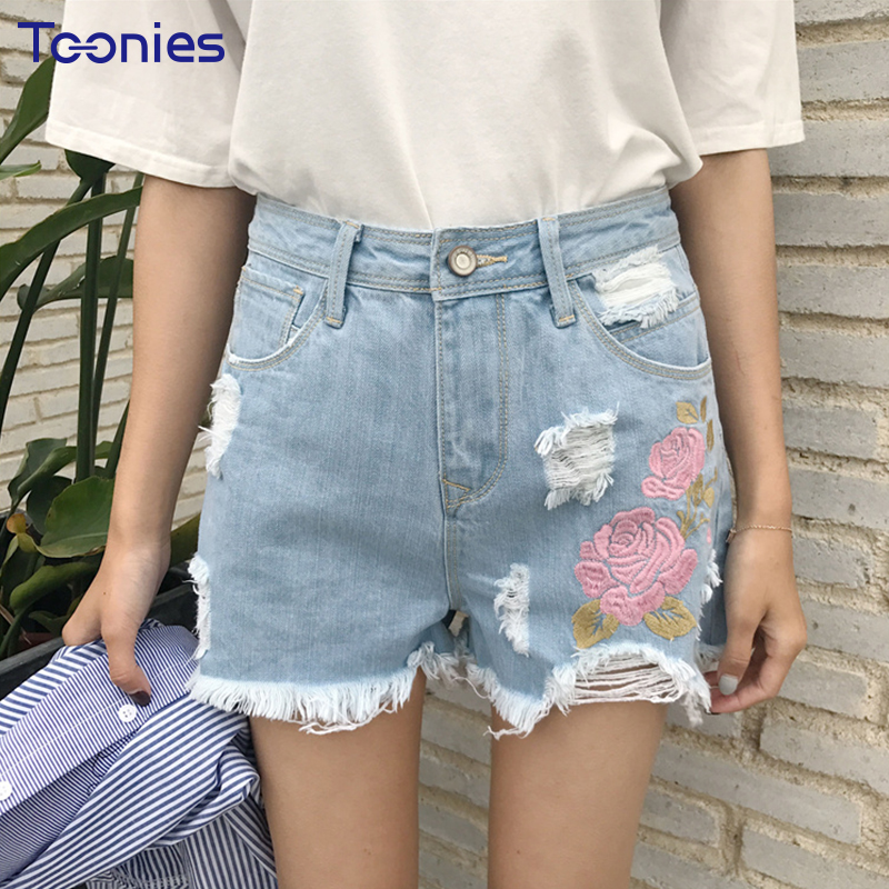 Online-Shop Ripped Holes Jeans Shorts Frauen Street Fashion Muster ...