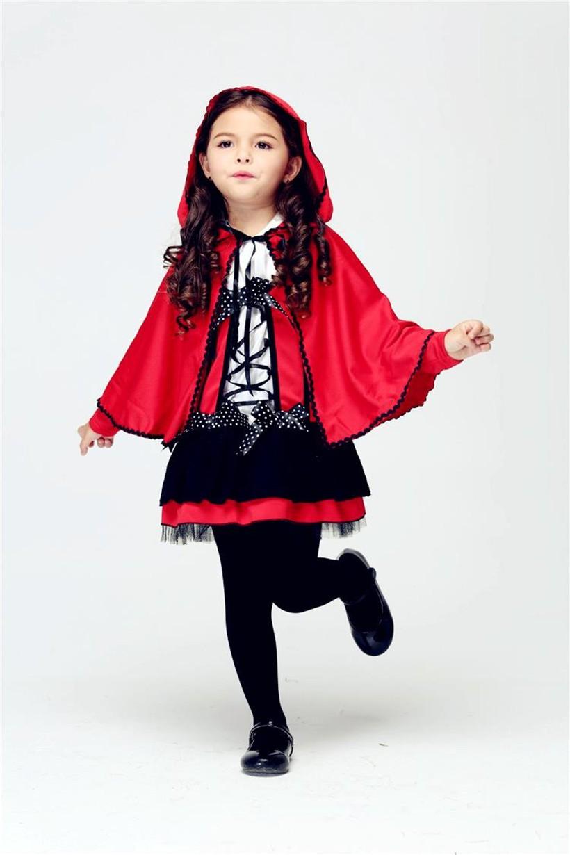 COULHUNT 2018 Mädchen Rotkäppchen Kostüm Kind Kleine Rote Teufel ...