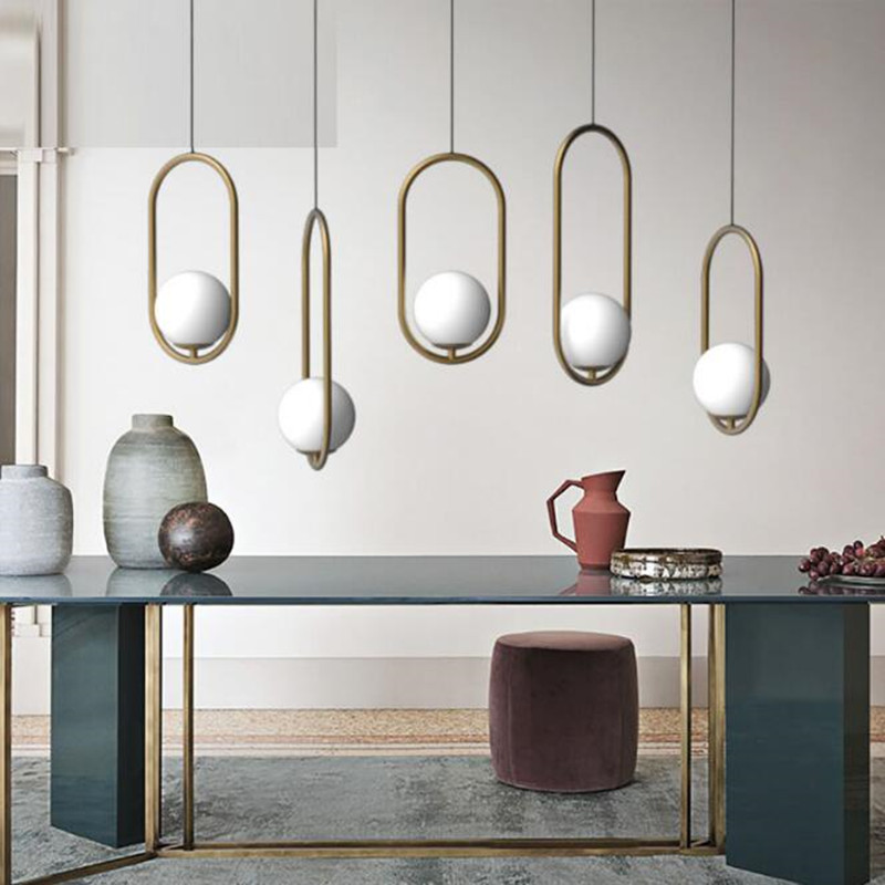 Loft Apartment Oval Dining Room Pendant Light Kitchen