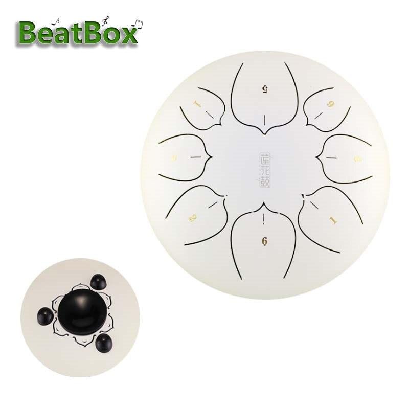 BeatBox 6 Inch Steel Tongue Drum Mini 8 Tone G Tune Hand Pan Drum Tank Hang Drum Musical Instruments