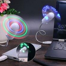 LED Fan Flexible USB Gadgets Advertising USB Character Fan C