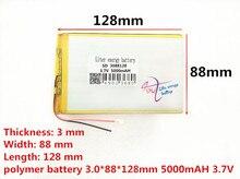 Liter energy battery 3088128 3 7V 5000MAH 3090125 3090130 tablet battery brand tablet gm lithium polymer