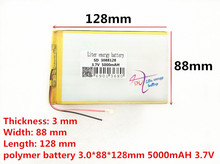 Liter energy battery 3088128 3.7V 5000MAH 3090125 3090130 tablet battery brand tablet gm lithium polymer battery