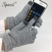 Sparsil Winter New Magic Touch Screen Knitted Gloves Thicken