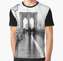 7b3208d0 All Over Print Men t shirt Funny tshirt Brooklyn Bridge NYC Graphic Women  T-Shirt