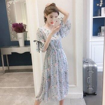 b6c9459202c Женское шифоновое платье 2019 весна лето модное женское элегантное ...