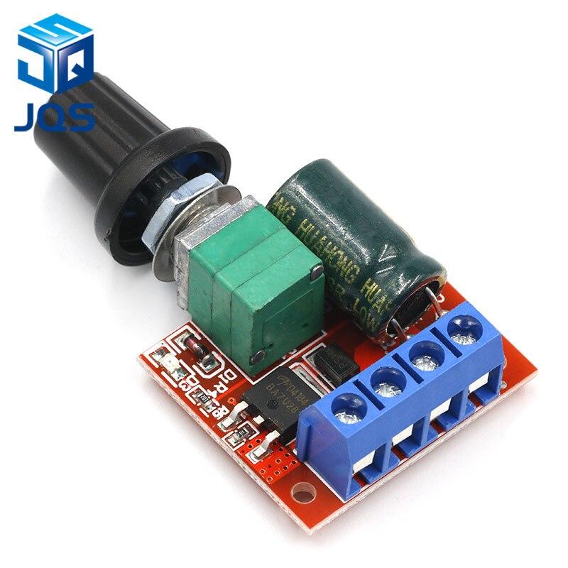 90W PWM DC Motor Speed Control Regulator Module Switch LED Dimmer Board 5A BE