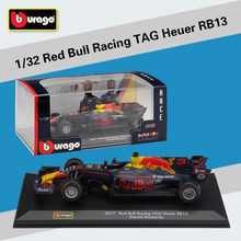 Bburago 1:32 2017 Red Bull Racing TAG Heuer RB13 F1 Daniel Ricciar 33# Max Verstappen Racing Diecast Model Car Toy(China)