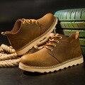 Martin hombres botas de cuero de trabajo Duro sistema de tubo de viento Dichotomanthes botas los hombres de cuero