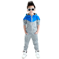 Kids Clothes Boys 2017 Baby Boys Spring Hoodied Coats And Jackets Pants Set Korean Fashion Children