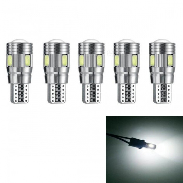 5Pcs T10 W5W 194 5630 3W 6SMD 6000K Car From Canbus Led Light-Emitting Diodes Independent Led Bulb No Errors Univ era Auto Lamp