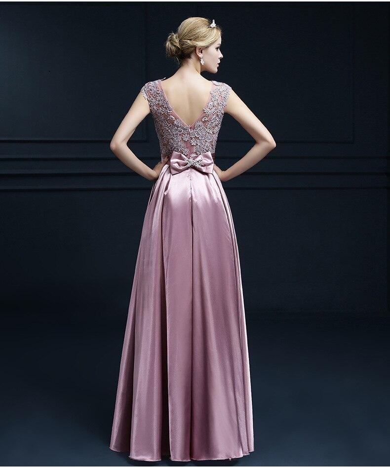 38fb0f5cecdef Popodion 9 Colors Evening Dress Lace Long Dress Satin Elegant Formal  Dresses vestido de festa PRO30049