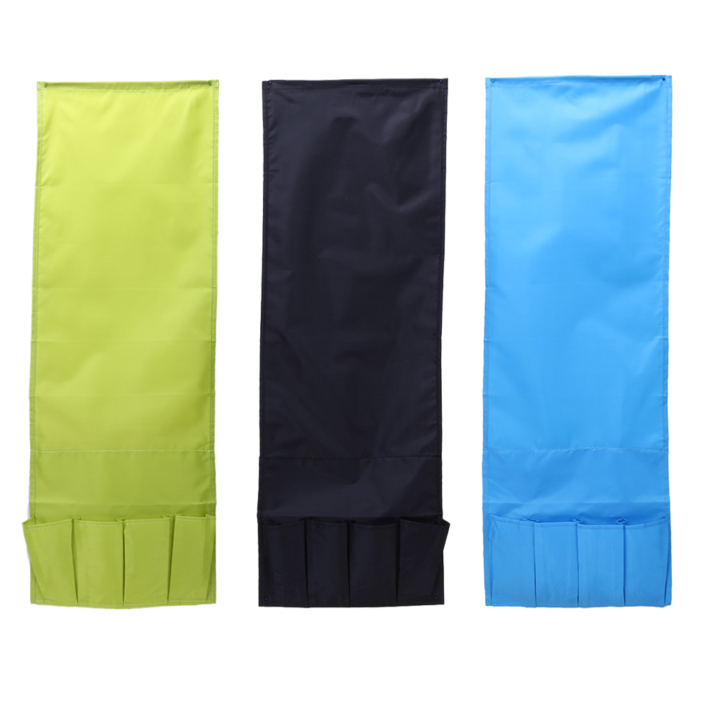 Hanging Sofa Side Storage Bag Cell Phones Remote Control Holder Organizer Foldable 4 Pockets Over Armchair Couch Storage Pouch 1