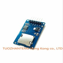 10pcs/lot Micro SD card mini TF card reader module SPI interfaces with level converter chip for arduino