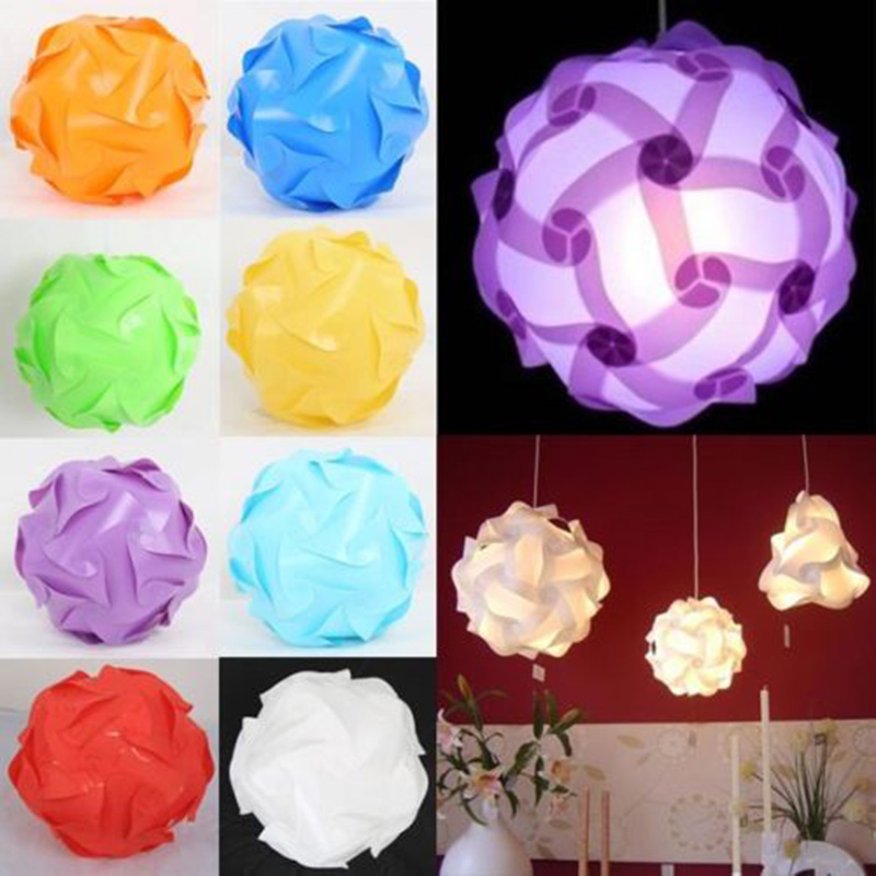 30 Pcs Elements Modern IQ Puzzle Jigsaw Light Lamp Shade Ceiling Lampshade Creative DIYChina