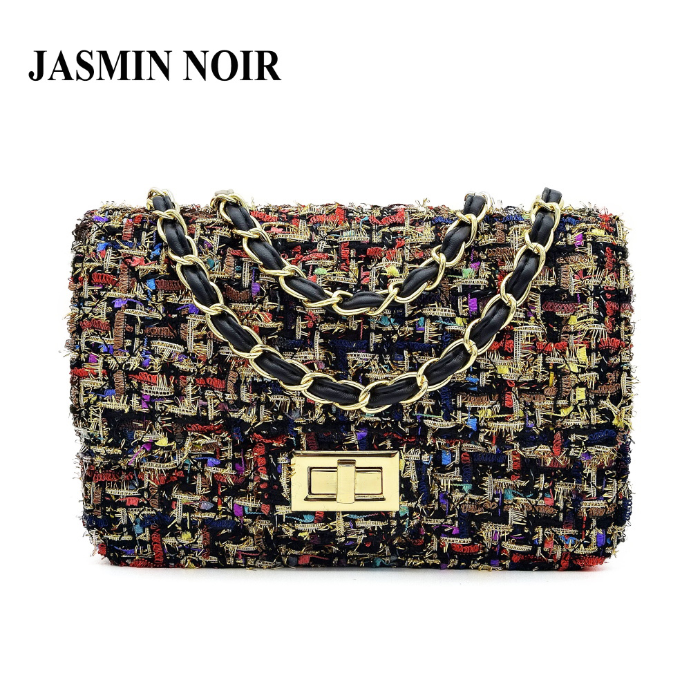 Winter New Fashion Wool Bag Women Messenger Bags Crossbody Bags Chain Small Womens Shoulder Bag For Ladies Designer Handbags