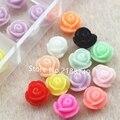 12 Colores 6mm Resina Rose Flores 3D Nail Art Puntas de Espárragos DIY Suministros de Uñas Uñas ToolsFor Teléfono celular Decorativo