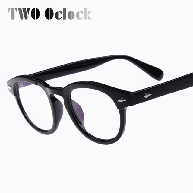 d975e26664b3b DOIS Oclock Johnny Depp Óculos Homens Mulheres Retro Vintage Óculos Ópticos  Míope Óculos de Quadros Óculos