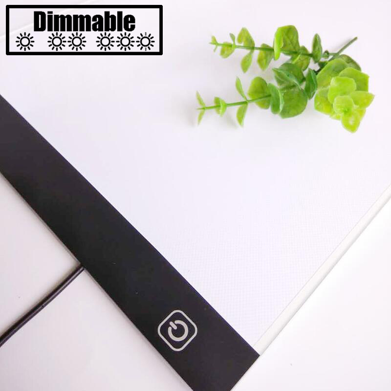 Toccare dimming Ultrasottile 4mm A4 HA CONDOTTO LA Luce Tablet Pad Applicare per EU/UK/AU/US/ USB Spina di Diamante Del Ricamo Diamante Pittura pittura