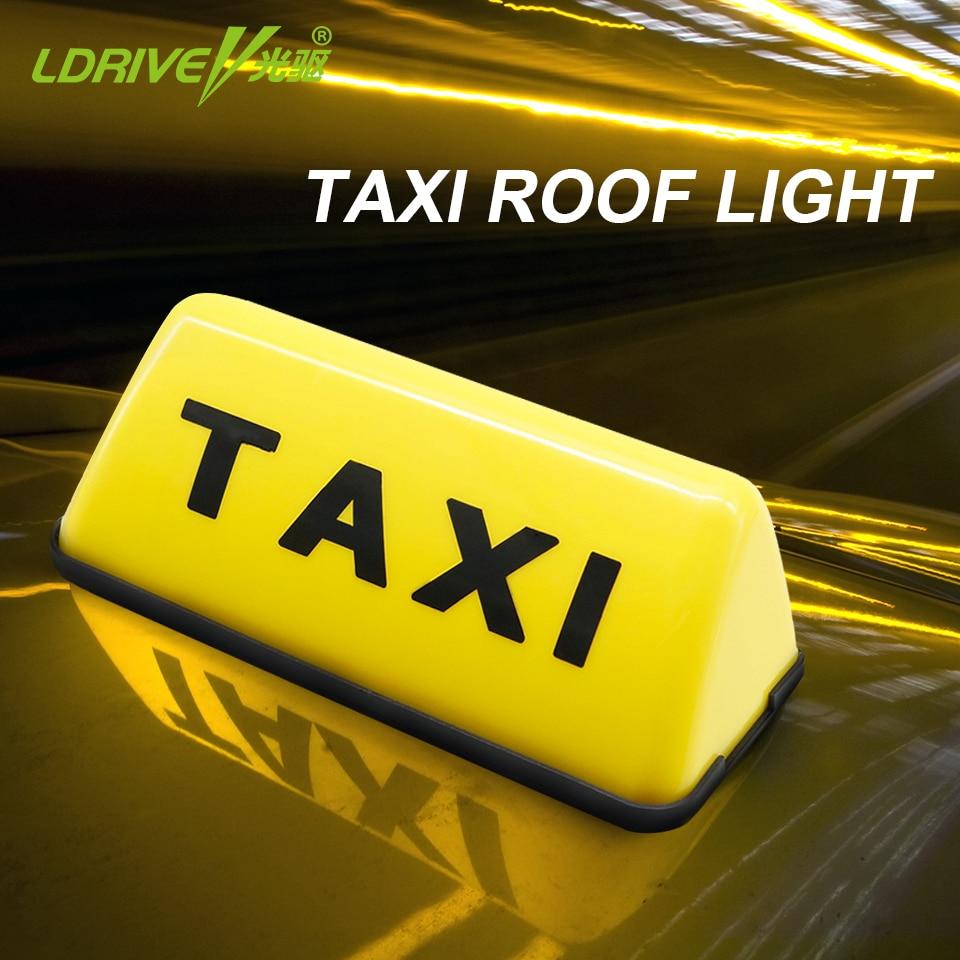 TAXI Led Indicador de Sinal de Luz LED Carro Luz Do Dia Luzes Diurnas DC 12 V 5 W Auto Condução Telhado top Táxi LEVOU Sinal de Luz de Nevoeiro
