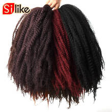 Silike 100g Marly Hair Crochet Braids 18″ 30 Roots Bug Marley Braiding Hair Synthetic Bulk Hair Extension Low Temperture Fiber