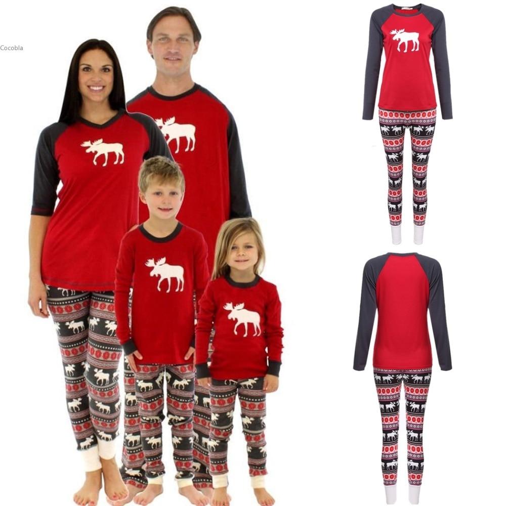 New Arrival Women Christmas Classical Animal Pattern Sleepwear Pajamas Set Ladies pyjamas Christmas deer Womens pajamas suit