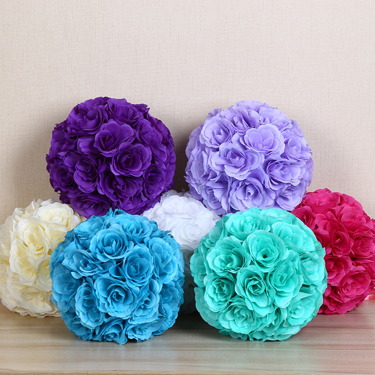 7 Inches White Flower Ball: Hot Sale 8 Inch(20cm) Hanging Decorative Artificial