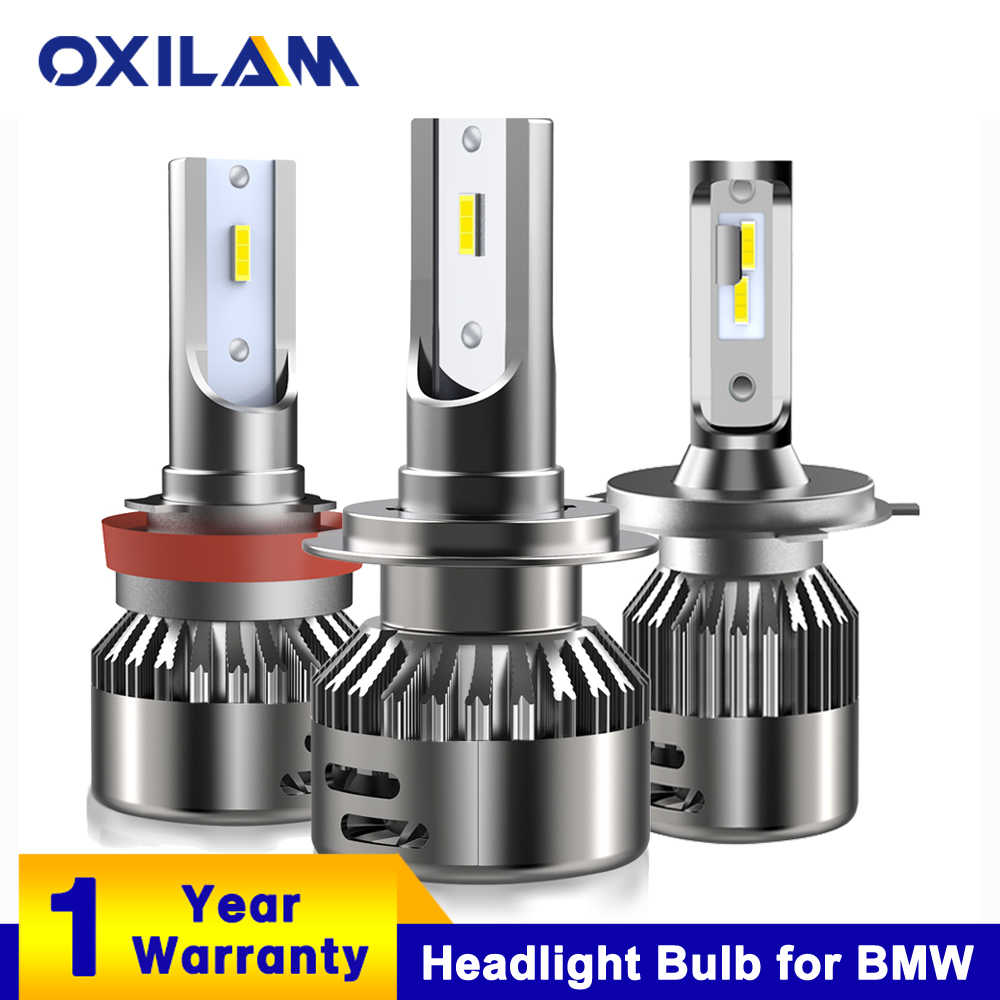 OXILAM 2Pcs 6000K LED Headlamp Headlight Bulbs for BMW E39 F30 E46 E90 E60 E36 F10 Led H7 H4 H11 H8 9005 HB3 9006 HB4 Auto Lamp