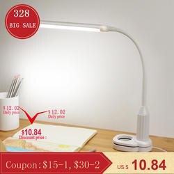 5 W 24leds глаз защитный зажим клип свет настольной лампы Плавная регулировкая яркости гибкие USB Powered сенсорное управление настольная лампа для