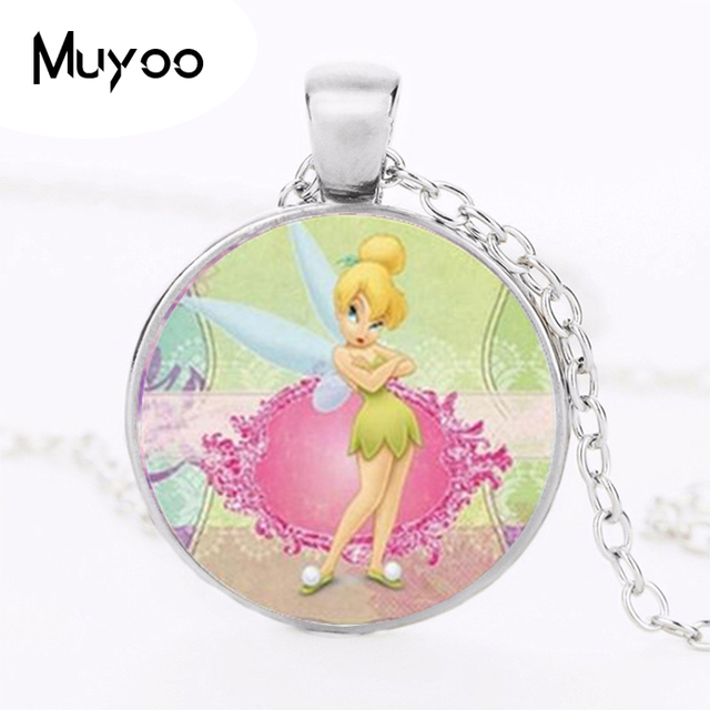 New fashion pendant cute tinkerbell necklace women men accessories new fashion pendant cute tinkerbell necklace women men accessories for child girls glass cabochon necklace hz1 aloadofball Gallery