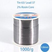 1kg 0.8mm Soldering Solder Wire 63/37 Tin Lead Rosin Core Flux for Electrical repair, IC repair