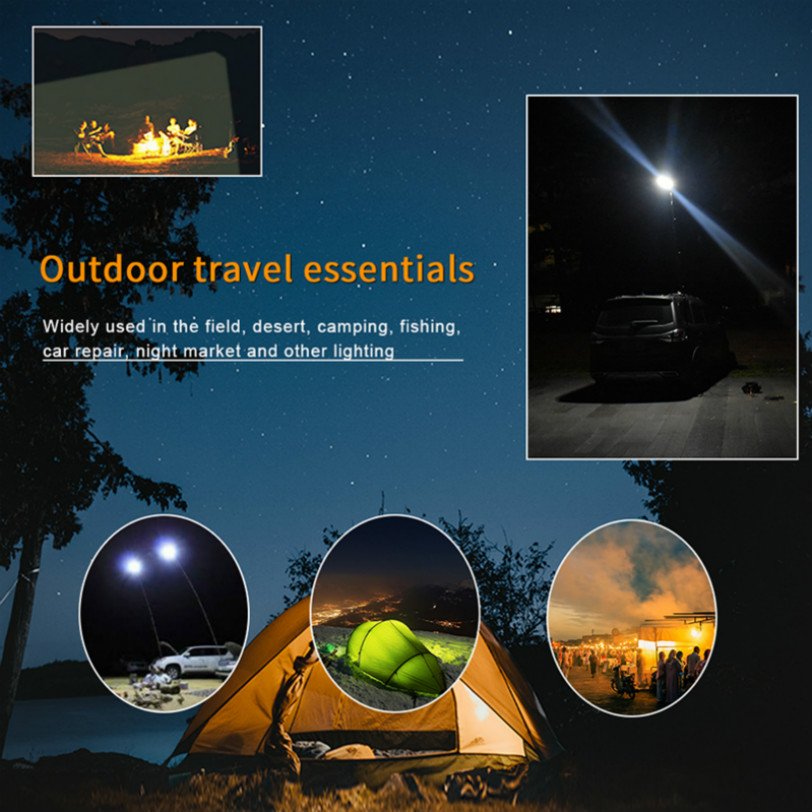 COB Multicolor Rechargeable Emergency Lights For Cars Home Floodlights Outdoors Safety  Flashing Beacons Indicate Camping Lamp