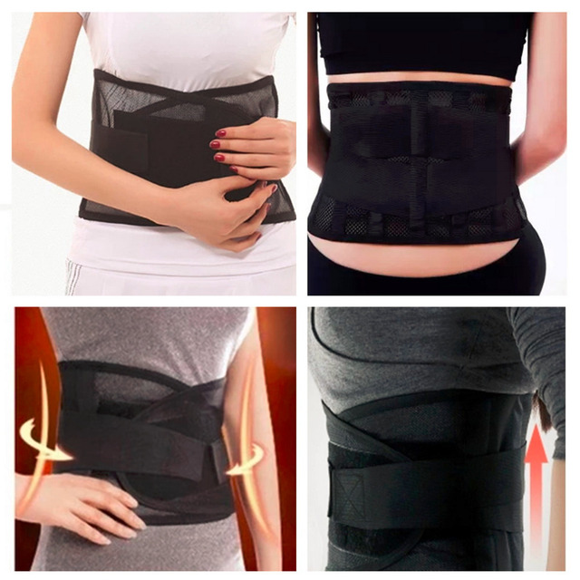 2017 Quality Waist Support Waist Protection Thin Breathable Mesh Lumbar Support Steel Plate Protection Belt for Sports Safety