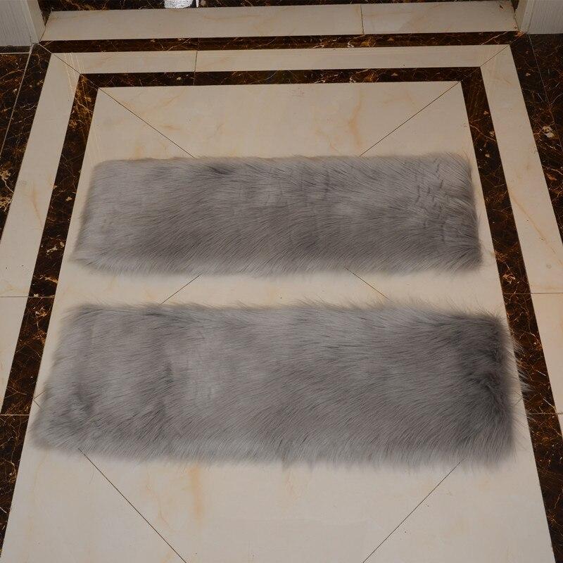 13 pièces Faux tapis en laine marches d'escalier tapis Rectangle tapis antidérapants tapis d'escalier tapis de marche - 5