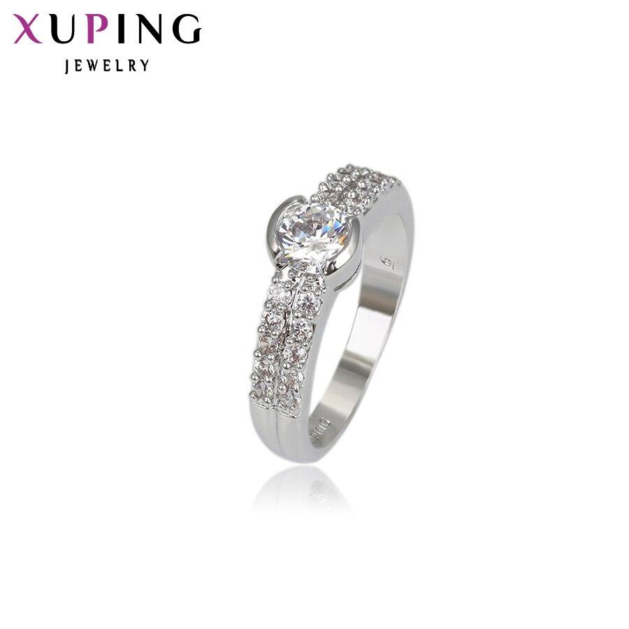11,11 сделок Xuping Мода кольцо имитация очаровательные украшения Обручальное кольцо Обручение синтетических CZ кольцо подарок ко Дню Святого Ва...