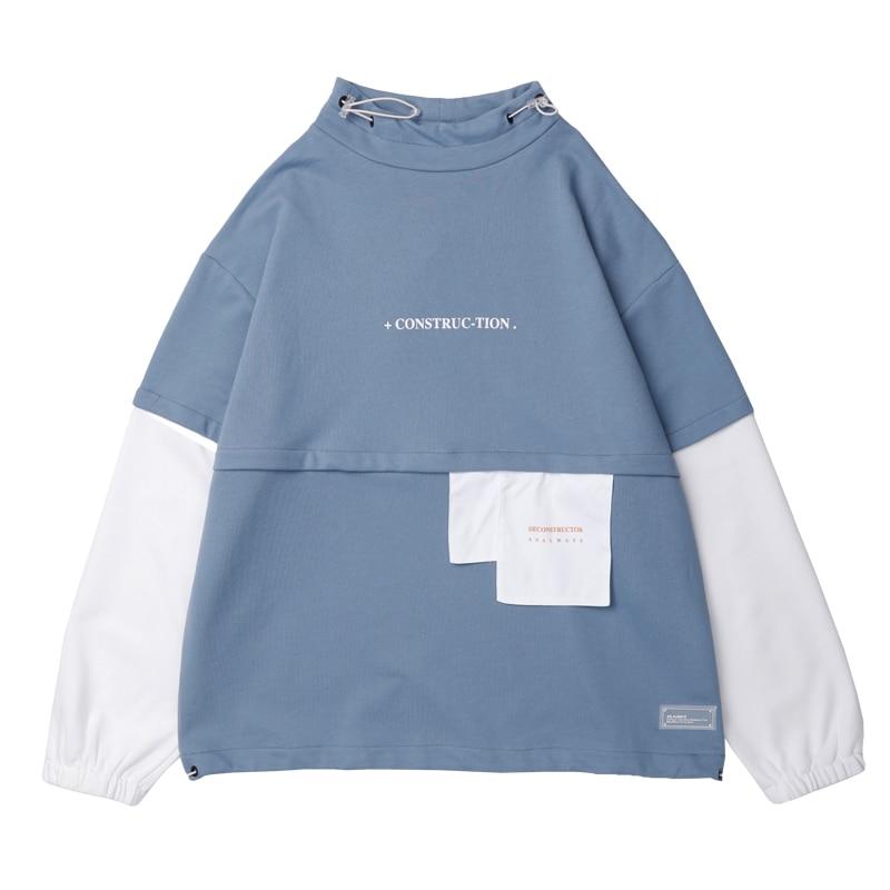 Plegie hommes Hip Hop Sweat-Shirt pull 2019 Harajuku à capuche Streetwear coton couleur bloc Patchwork Style coréen Sweat-Shirt