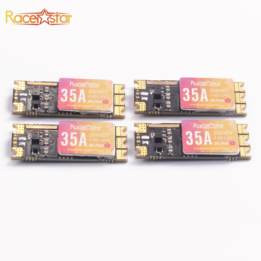 купить Special Edition 4 PCS Racerstar SPROG X 35A BLheli_S 2-6S DShot600 ESC 4g for RC Models Racing Drone Multirotor DIY Parts онлайн