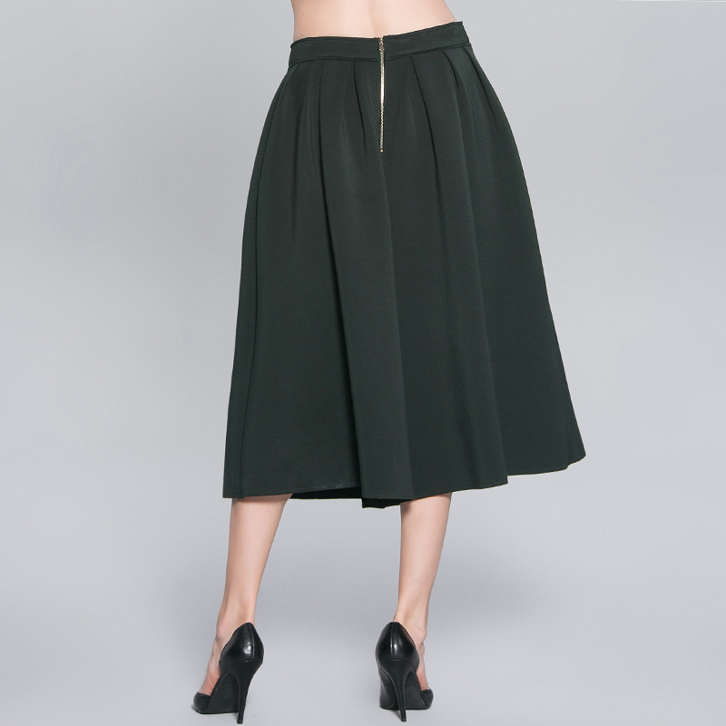 Ropa Marca Casual Mujeres 2017 Plisado Moda Britches Harem Fly Anchos Pokwai Green longitud Zipper Suelta De Calf Pantalones xnwzvC0qS