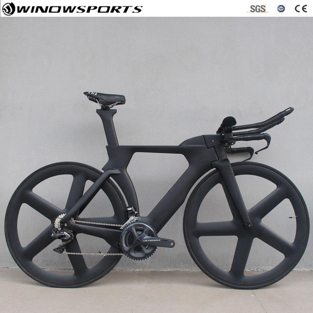 TT vélo aero carbone contre-la-montre vélo TT vélo avec 8060 DI2 22 vitesses carbone tt vélo cadre 48/51/54/57 cm triathlon