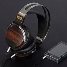 Wooden and Metal DJ Stereo Headphones