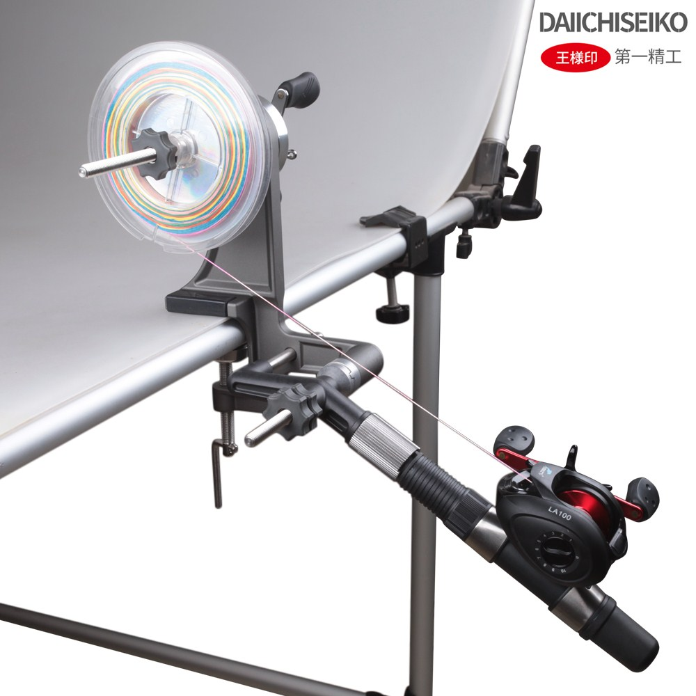DAIICHISEIKO Fishing Line Winder 5.5:1 High Speed Bobbin Winder For Fishing Reel Max Drag 3kg Reel Spool Spooler System Tackle