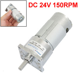 цена на UXCELL Hot Sale 1 Pcs DC 24V 150RPM Output Speed 7mm Shaft Electric Power Geared Motor