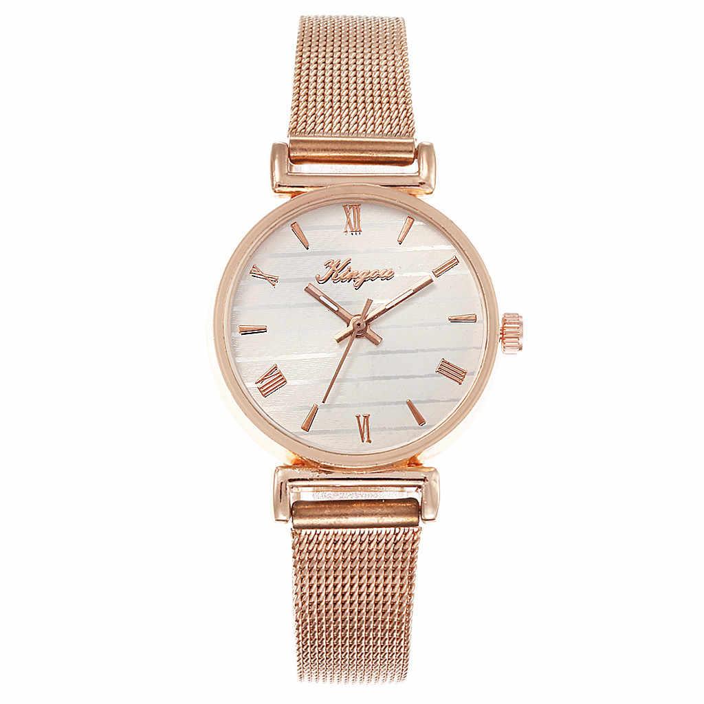 2019 New Luxury Watch Women Alloy Mesh Belt Casual Watches Simple Zegarek Damski Quartz Wristwatch Reloj Mujer bayan kol saati