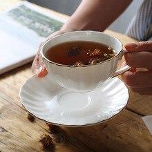 Европейская фарфоровая чашка, совпадение, фарфоровая кофейная чашка, блюдце, набор, 210 мл, керамическая чайная чашка, кафе, вечерние чайные чашки