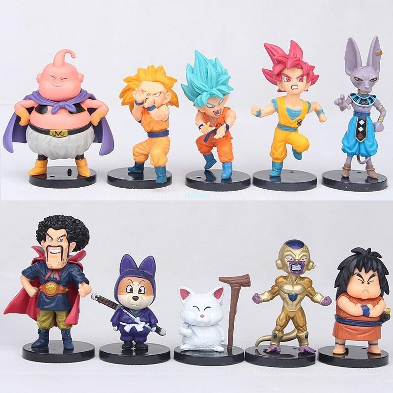 16 pcs//set Dragon Ball Z Super Saiyan Son Goku Vegeta Action Figures Toys Gifts