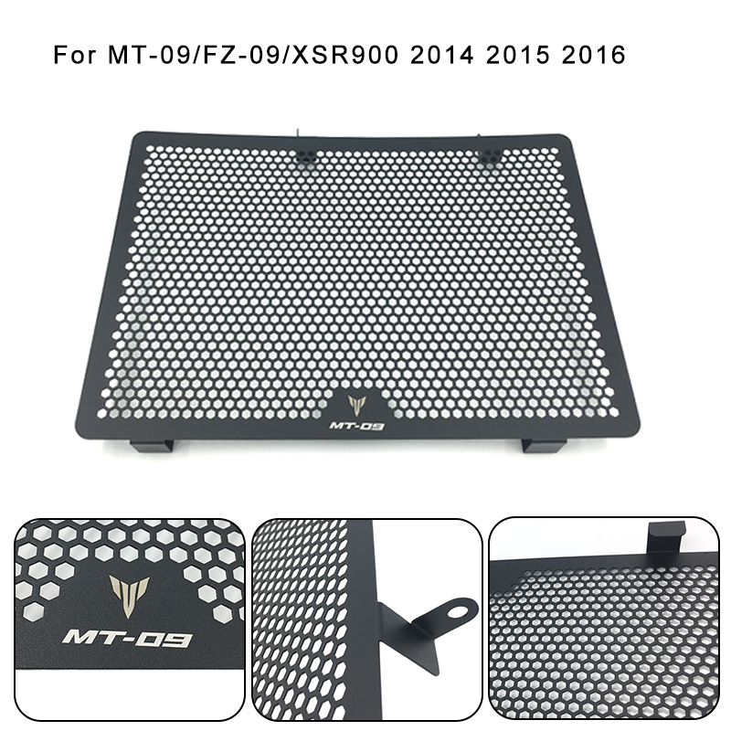 For Yamaha MT-09 MT09 MT 09 FZ-09 FZ09 FZ XSR900 2014 2015 2016 Radiator Grille Guard Cover Protector 100% Brand New high quality motorcycle radiator grille guard cover protector for yamaha mt 09 fz 09 fj 09 mt fz fj 09 2013 2014 2015 2016