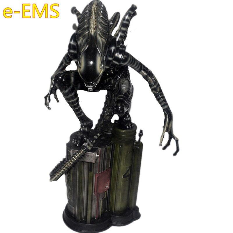 Anime 1:4 Xenomorph Alien Warrior Resin Squat Down Full length Portrait Statue Action Figure Model Giocattolo G2528