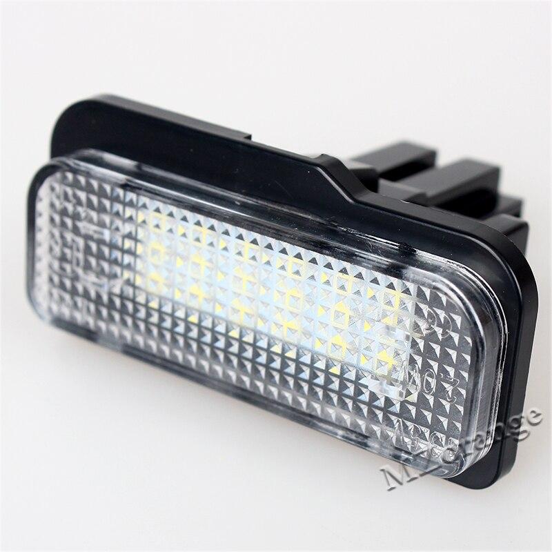2x coche LED Marcos de matrícula luces kit para MERCEDES w211 w203 ...